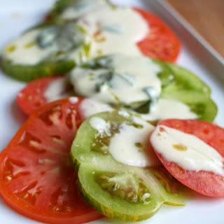 Tomato Salad with Basil Cream Dressing