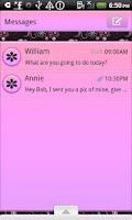 Screenshot of GO SMS THEME/PinkDaisy4U