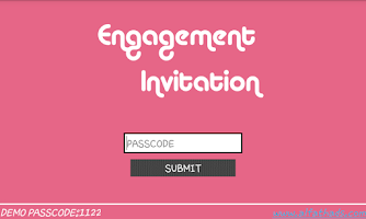 Screenshot of Engagement Invitation