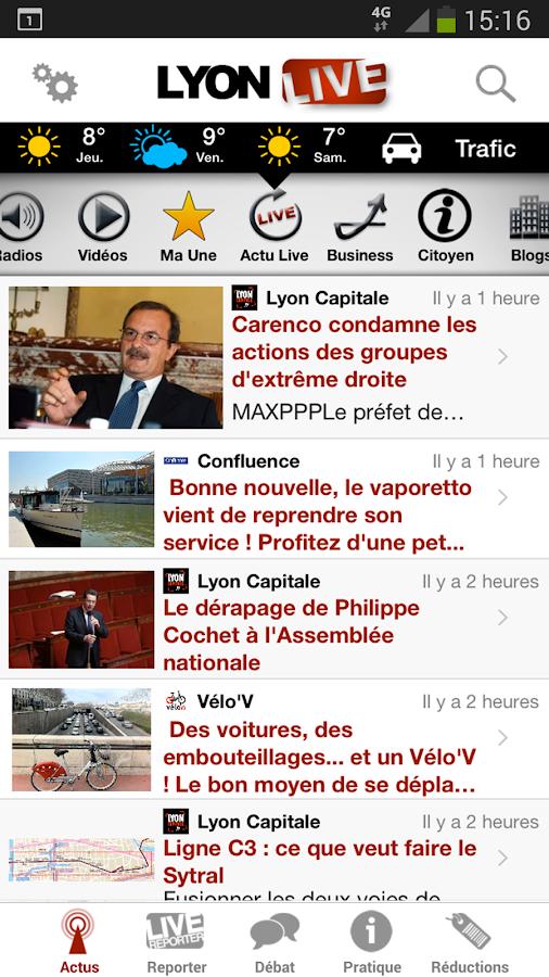 Lyon Live - screenshot