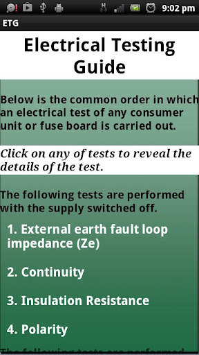Electrical Testing Guide