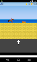 Screenshot of horse riding game