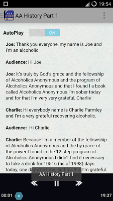 Joe & Charlie - AA Big Book - screenshot