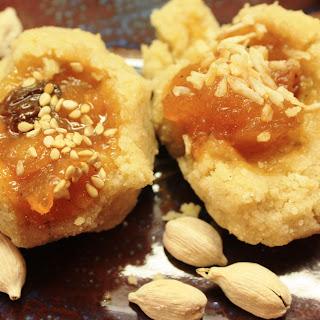 Mango Chutney Thumbprint Cookies.