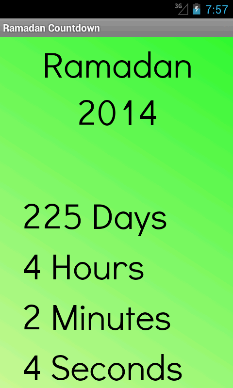 Ramadan 2014 Countdown - screenshot