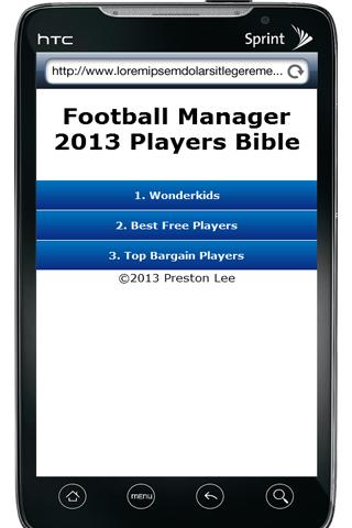 FM13 Players Bible - screenshot