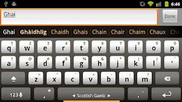 Screenshot of Scottish Keyboard Plugin