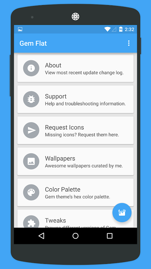 Gem Flat CM12 Theme- screenshot