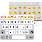Flat White Emoji Keyboard Skin