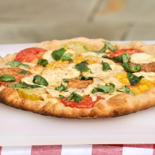 Heirloom Tomato and Smoked Mozzarella Pizza