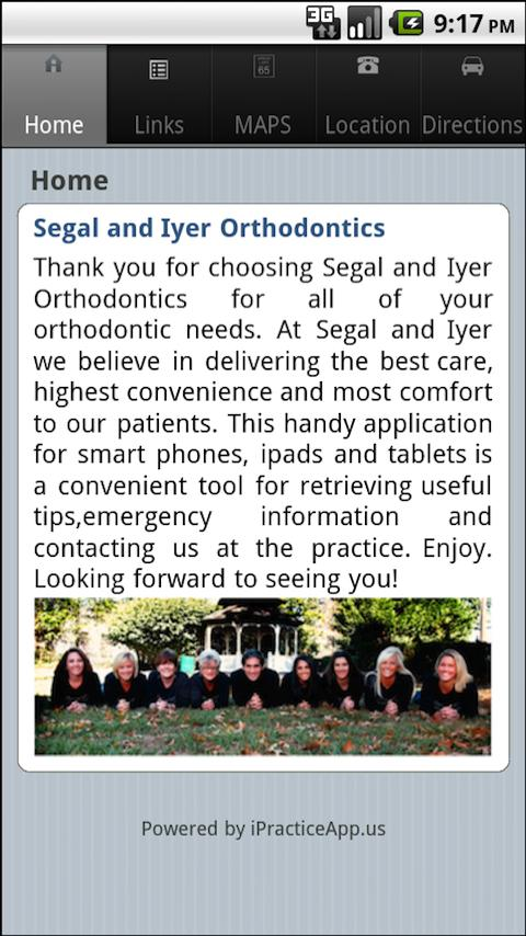 Segal and Iyer Orthodontics - screenshot
