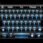 Theme for A.I.type Dusk Blue א icon