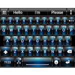 Theme for A.I.type Dusk Blue א