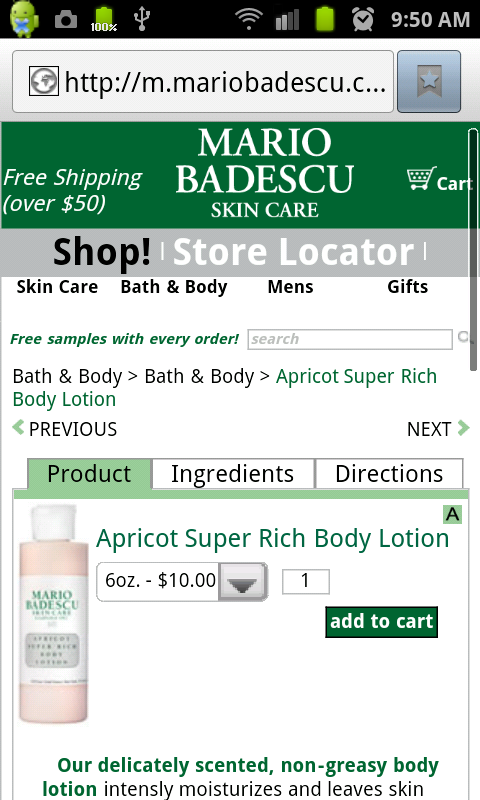 Mario Badescu Skin Care- screenshot