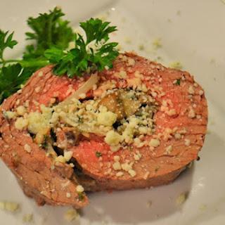 Portobello and Blue Cheese Stuffed Flank Steak Pinwheels