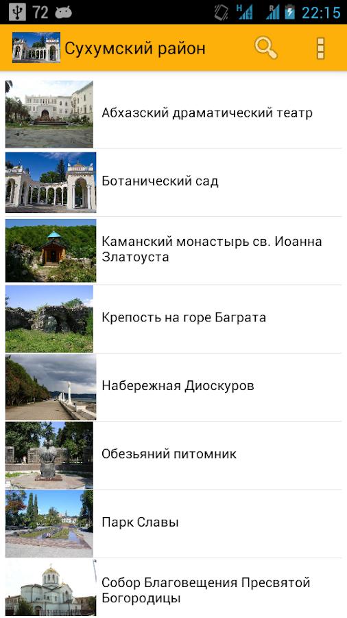 Абхазия путеводитель карта
