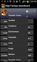 Screenshot of High Fantasy Soundboard