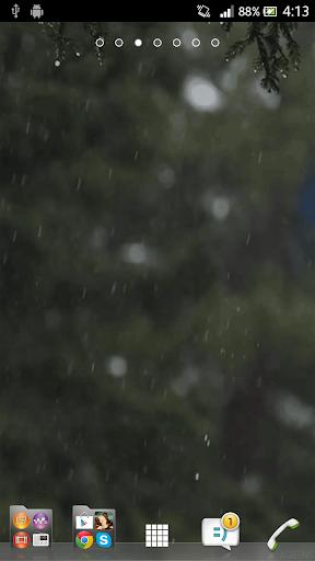 Rain Falling 3D Live Wallpaper