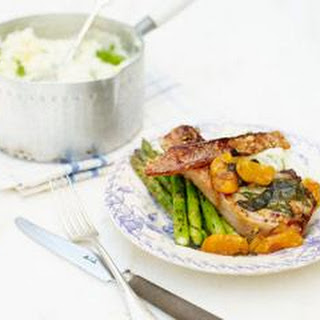 Pork Chops With Sage, Honey And Apricots.