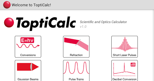 ToptiCalc – Optics Calculator
