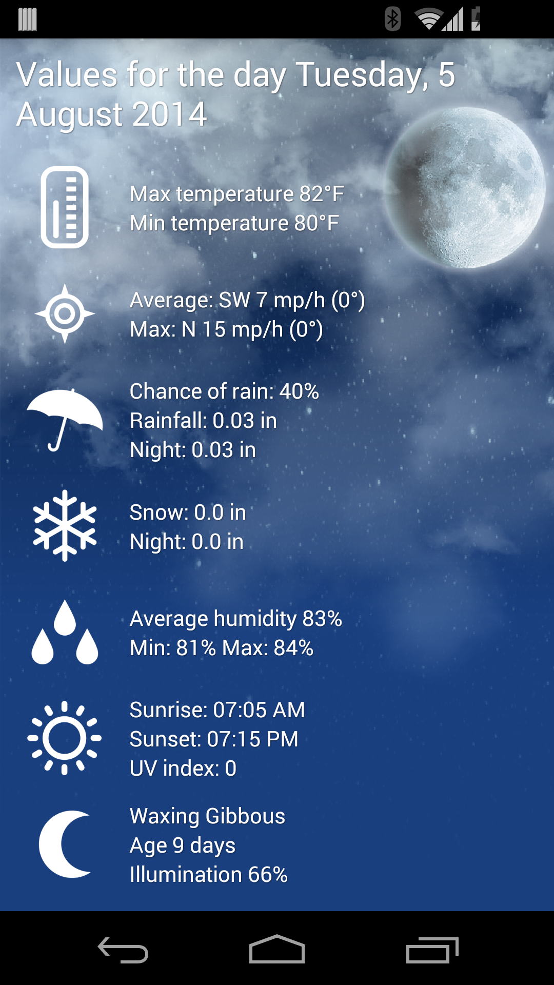 Weather XL PRO screenshot #3