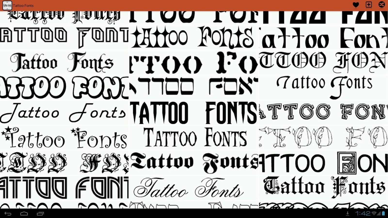 Favorito Tattoo Fonts Ideas - Android Apps on Google Play MQ26