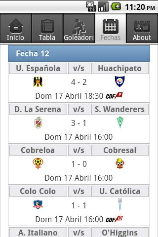 Futbol Chileno - screenshot