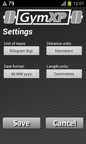 Screenshots for GymXP