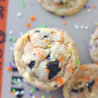 Halloween Cake Batter Oreo Cookies