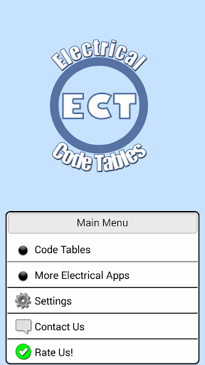 Electrical Code Tables