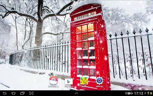 雪在倫敦动态壁纸