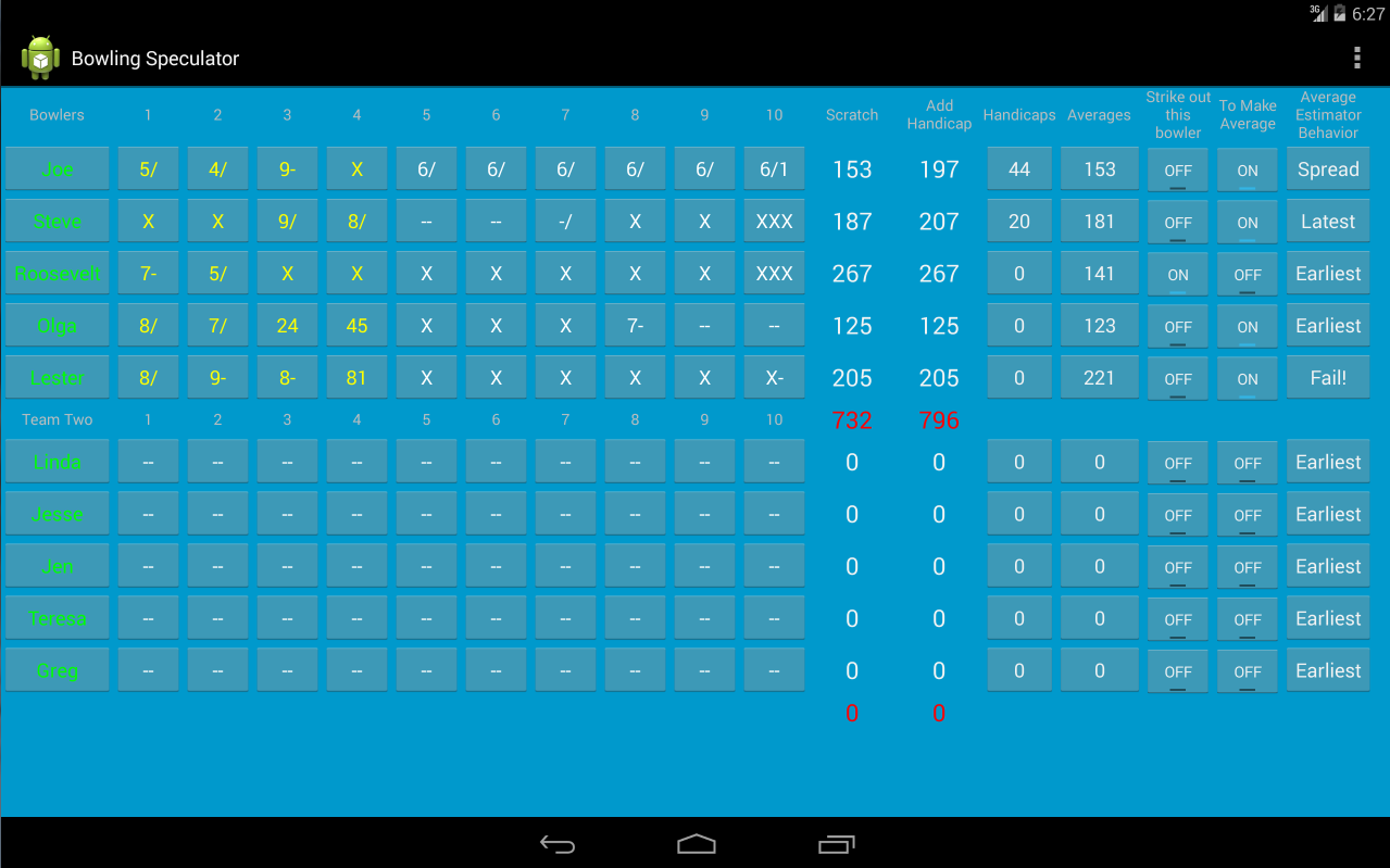 Bowling Speculator- screenshot