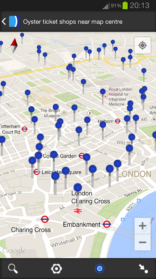 London Oyster Balance - screenshot