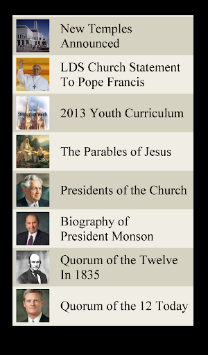LDS Lists 1 Mormon