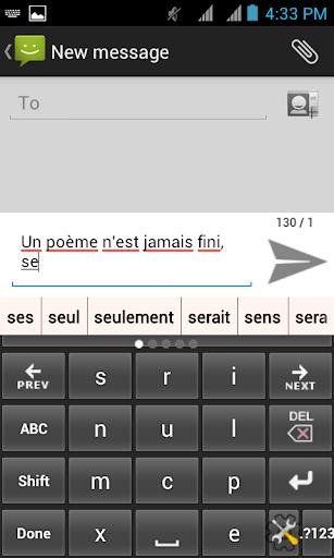 Français CleverTexting IME