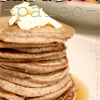 Hazelnut Banana Paleo Pancakes.
