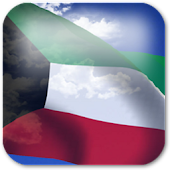 3D Kuwait Flag Live Wallpaper+