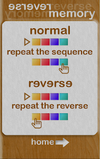 reverse memory: musical & visual memory game Capture d'écran