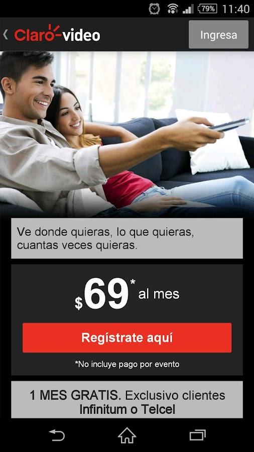 Clarovideo - screenshot