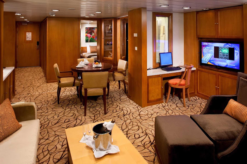 Celebrity Constellation's contemporary suites are designed to cater to all your needs while you travel.