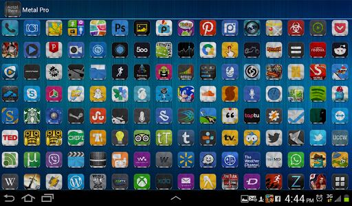 Metal Free(APEX NOVA GO THEME) 1.5.0 screenshots 14