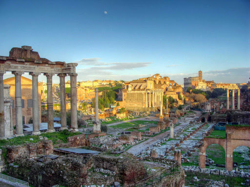 Roman-Forum - For centuries the Roman Forum was the epicenter of public life in Rome, ranging from elections and processions to criminal trials and gladiatorial matches. It's in the San Paolo section of Rome.