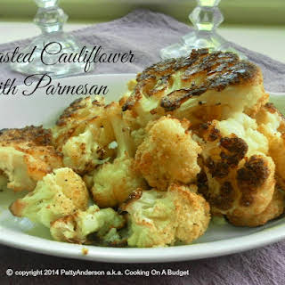 Roasted Cauliflower With Parmesan.