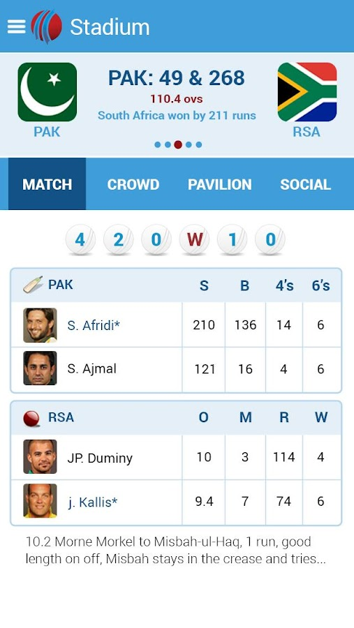 Live Cricket Scores & News - screenshot