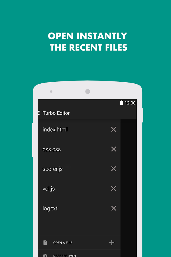 Turbo Editor ( Text Editor ) - screenshot