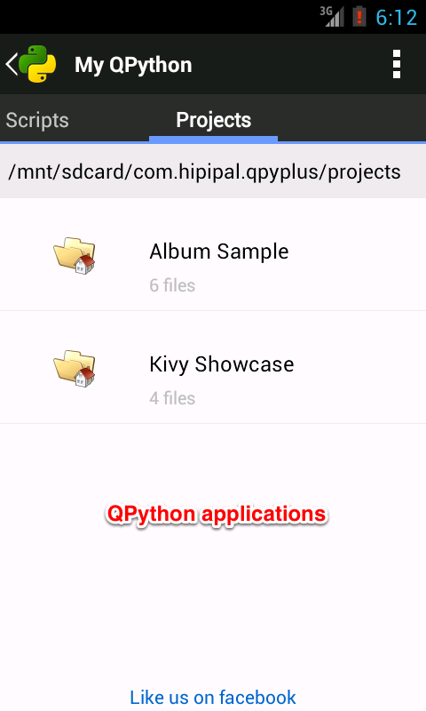 QPython Player for Android - screenshot