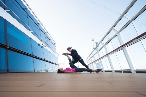 yoga_Celebrity_cruise - Experienced fitness and yoga instructors are on hand on board Celebrity Reflection.