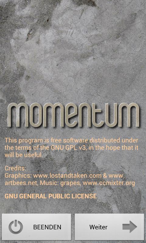 Momentum- screenshot