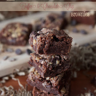 Toffee and Chocolate Chip Brownies