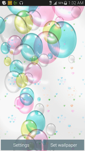 Colored Bubbles Live Wallpaper